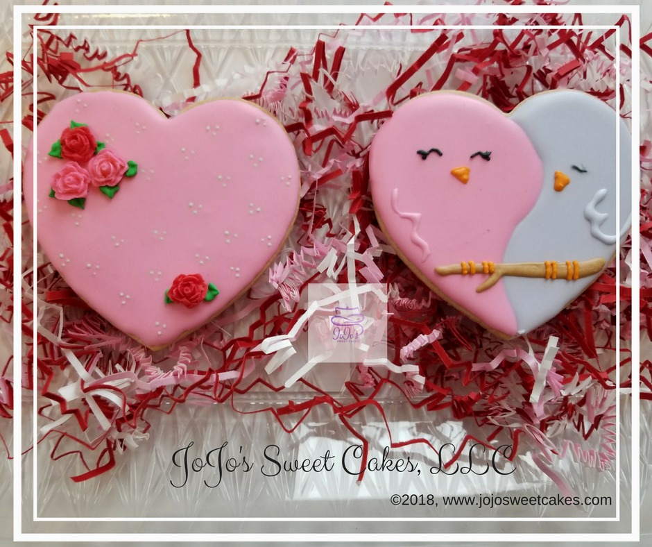 Best Valentines Day Gifts for 2018 | Valentines Day is just around the corner and what better way to say I Love You to your special someone that with this beautiful Love Birds Sugar Cookie Set. These cookies ranked the best Valentines Day Gifts for 2018. | https://jojosweetcakes.com/best-valentines-day-gifts-for-2018/