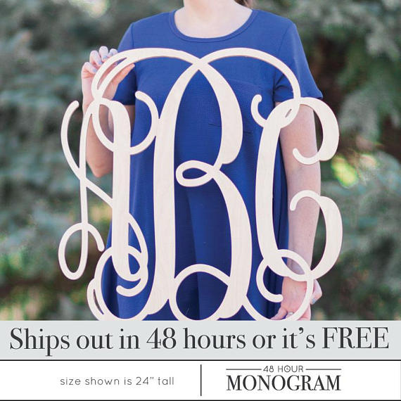 Large Wooden Monogram Letters