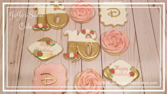 Sweet 16 Birthday Cookies | I was recently asked to make two dozen Sweet 16 Cookies. I fell in love with these cookies! I loved the color scheme, and just had an amazing time designing this set. I know that the special girl receiving this set will truly enjoy them. Enjoy your sweet 16th birthday! | https://jojosweetcakes.com/sweet-16-birthday-cookies