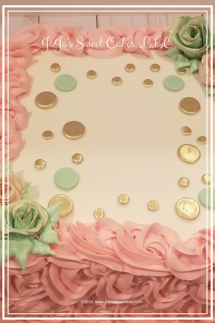 1st Birthday and Smash Cakes | I recently had the honor of decorating two smash cakes for beautiful one-year-old girls and a birthday cake for the birthday party. The color scheme for this set is a lovely soft pink and mint green. | https://jojosweetcakes.com/1st-birthday-and-smash-cakes