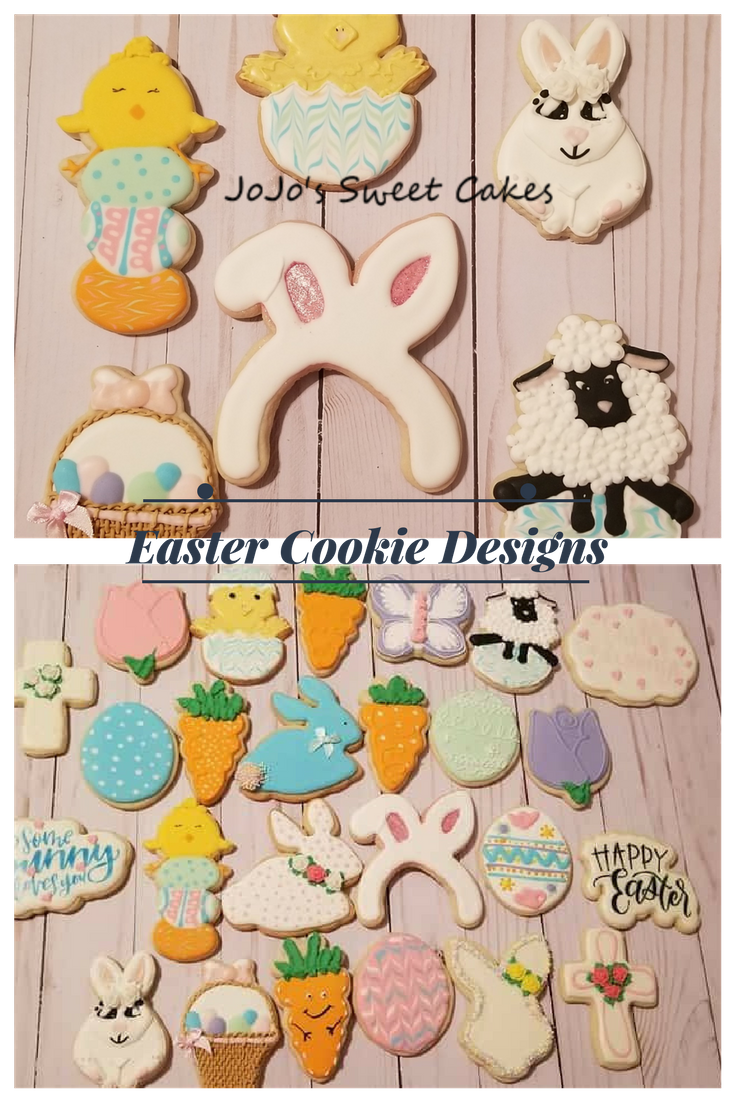Easter Cookies | Happy Easter! These cookies were designed specifically for Easter.  Decorated sugar cookies are so popular for Easter as we prepare Easter baskets. The beauty of sugar cookies is that they are completely customizable | https://jojosweetcakes.com/easter-cookies