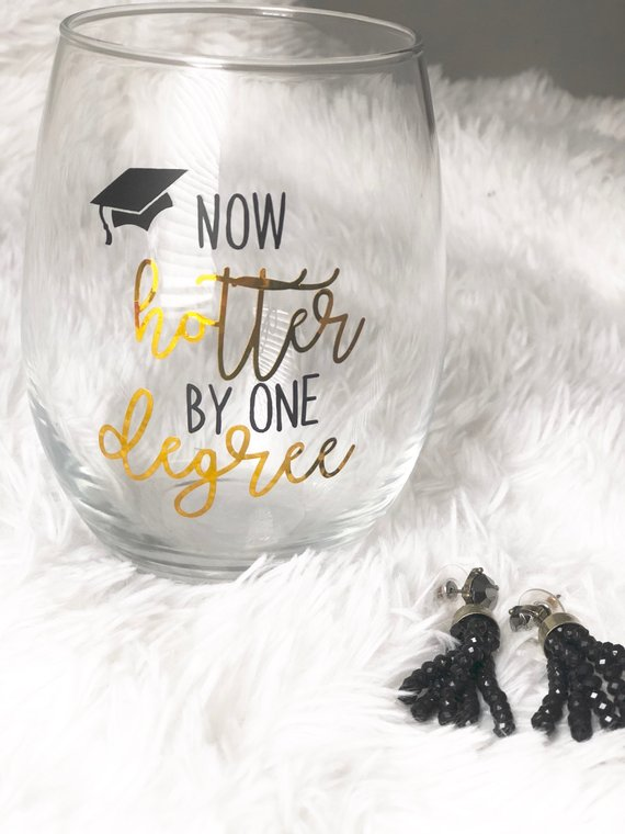 Graduation Wine Glass