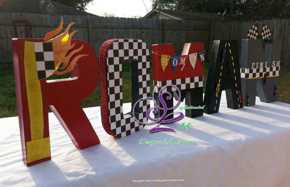 Race Car Party Letters