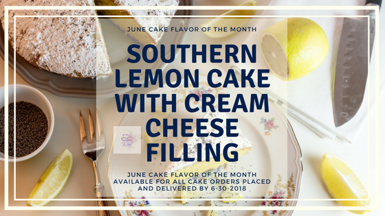 Southern Lemon Cake with Cream Cheese | June's Cake flavor of the month is a heavenly scratch lemon cake with cream cheese filling. Lemon is a light citrusy flavor that is almost synonymous with summer.| https://jojosweetcakes.com/southern-lemon-cake-with-cream-cheese
